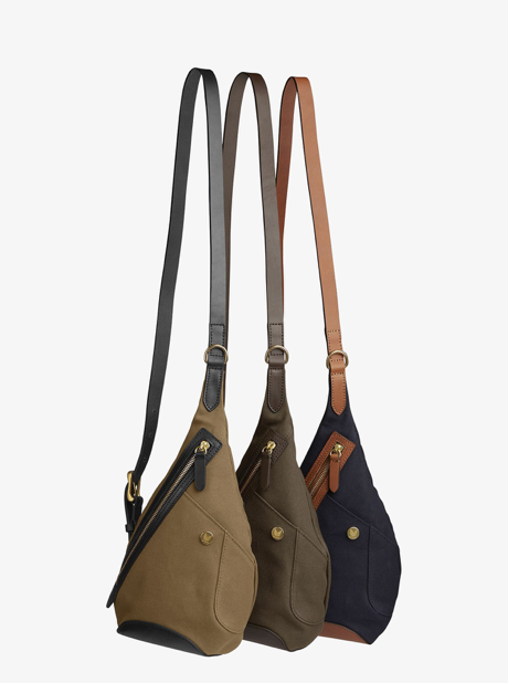 M/S Drop bag - Midnight blue/Cuoio description image