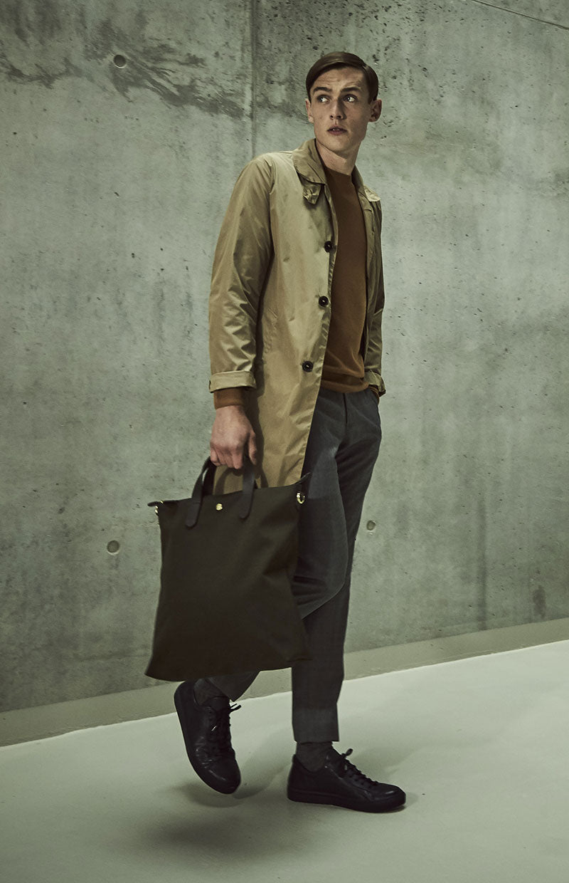 Mismo M/S Shopper - Pine Green/Dark Brown
