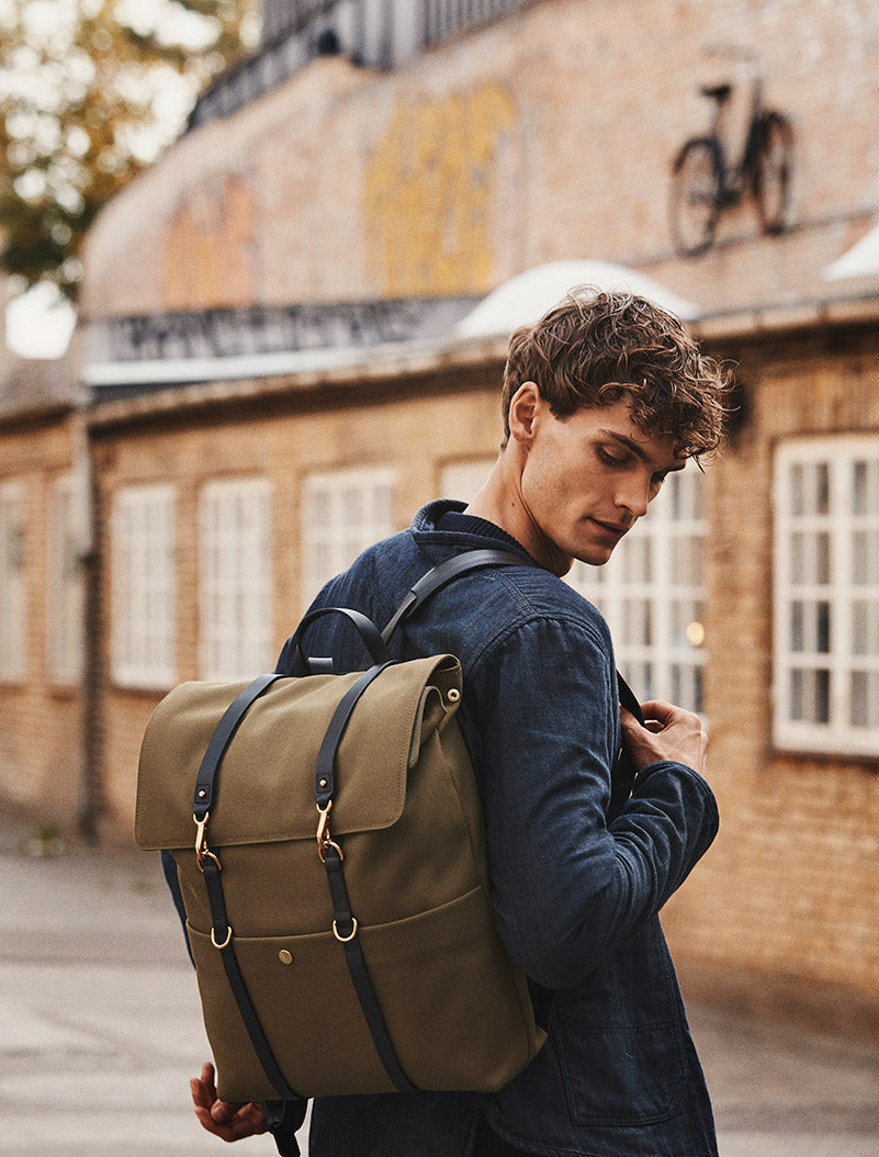 M/S Backpack - Khaki/Black description image
