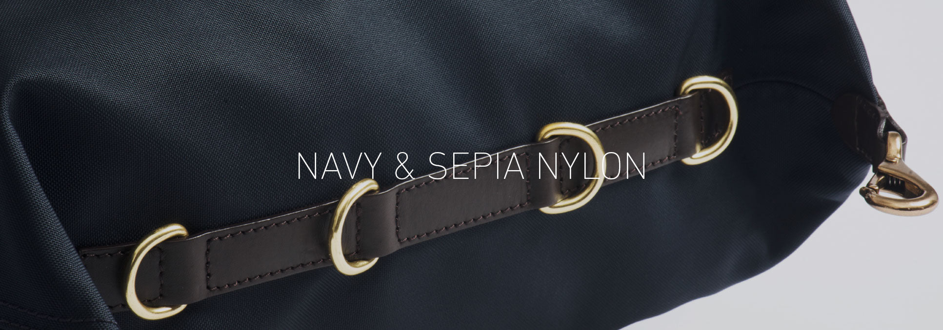 Navy & Sepia Nylon