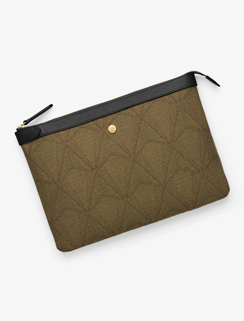 M/S Pouch Large - Diamond Chevron/Black description image