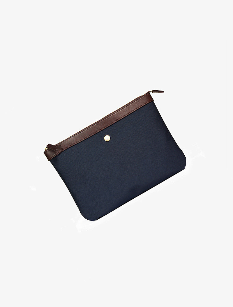 M/S Pouch – Navy/Dark Brown description image