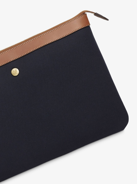 M/S Pouch Large - Midnight blue/Cuoio description image
