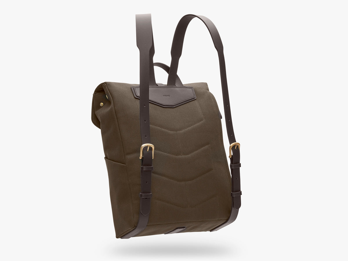 M/S Rucksack – Army/Dark Brown description image