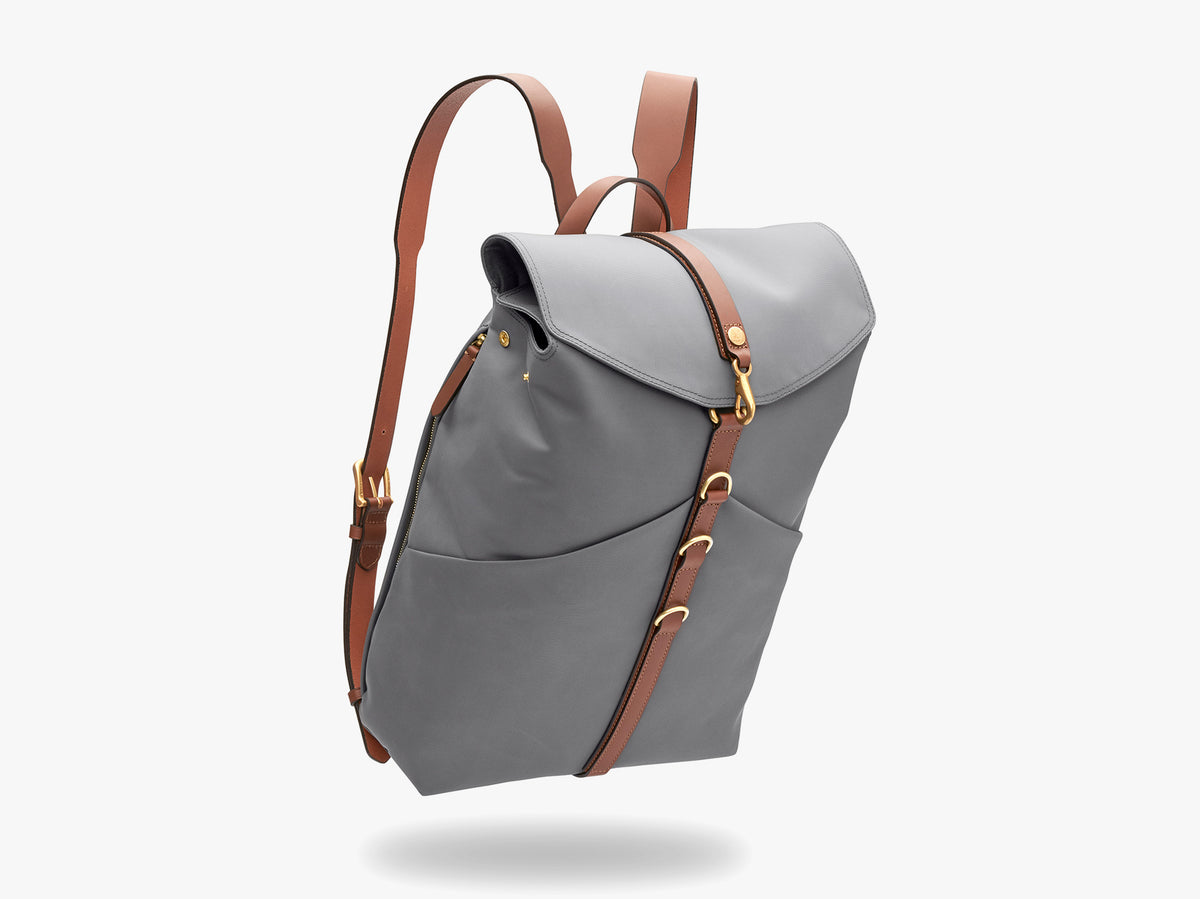 M/S Rucksack – Concrete/Cuoio description image