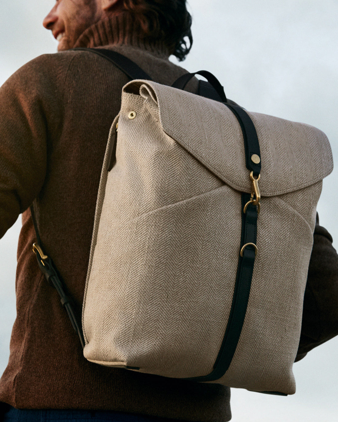 M/S Rucksack – Grand Herringbone/Black description image