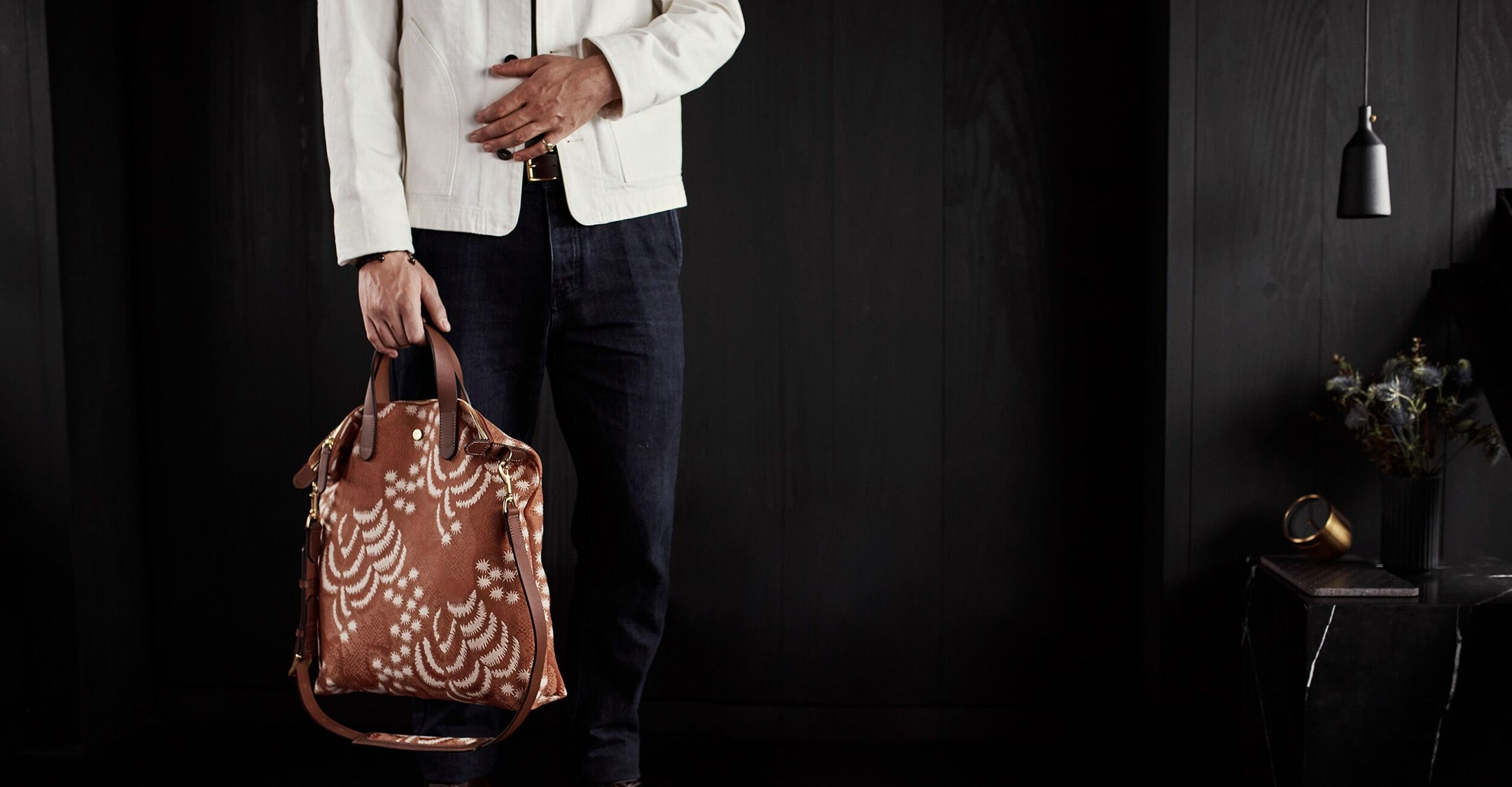 M/S Shopper - Palm Jacquard/Cuoio feature image 3