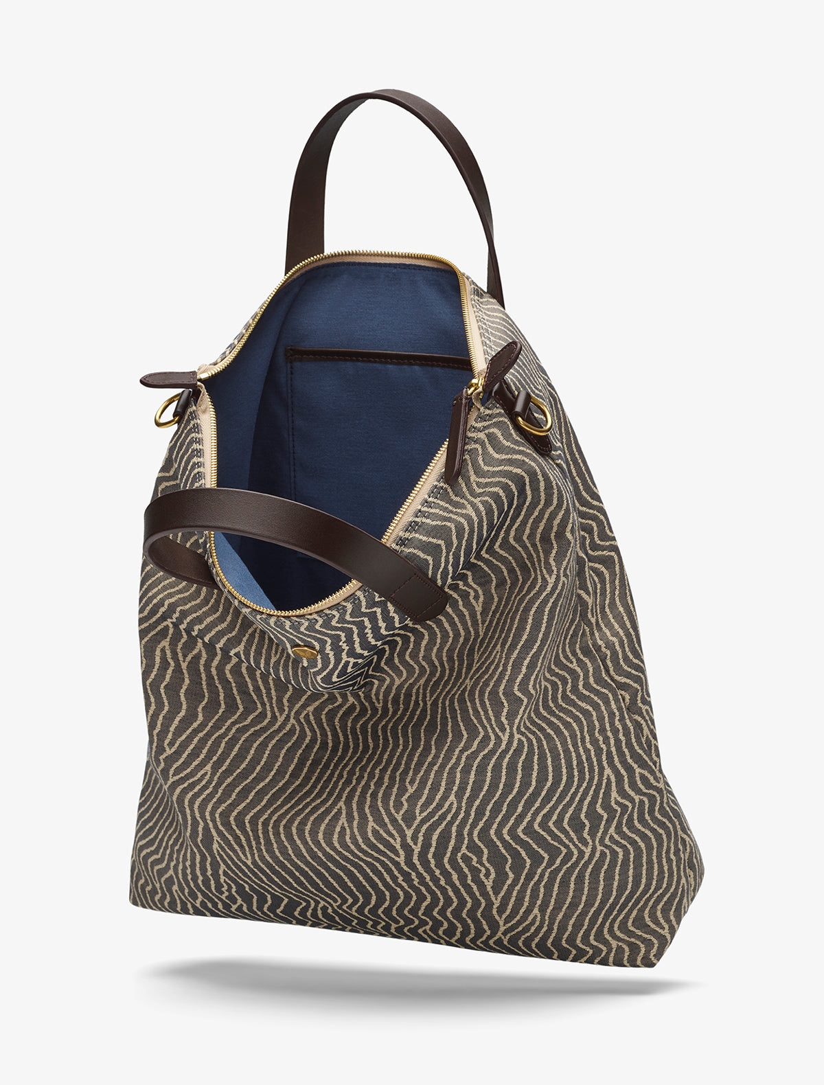 M/S Shopper - Sand waves/Dark brown description image