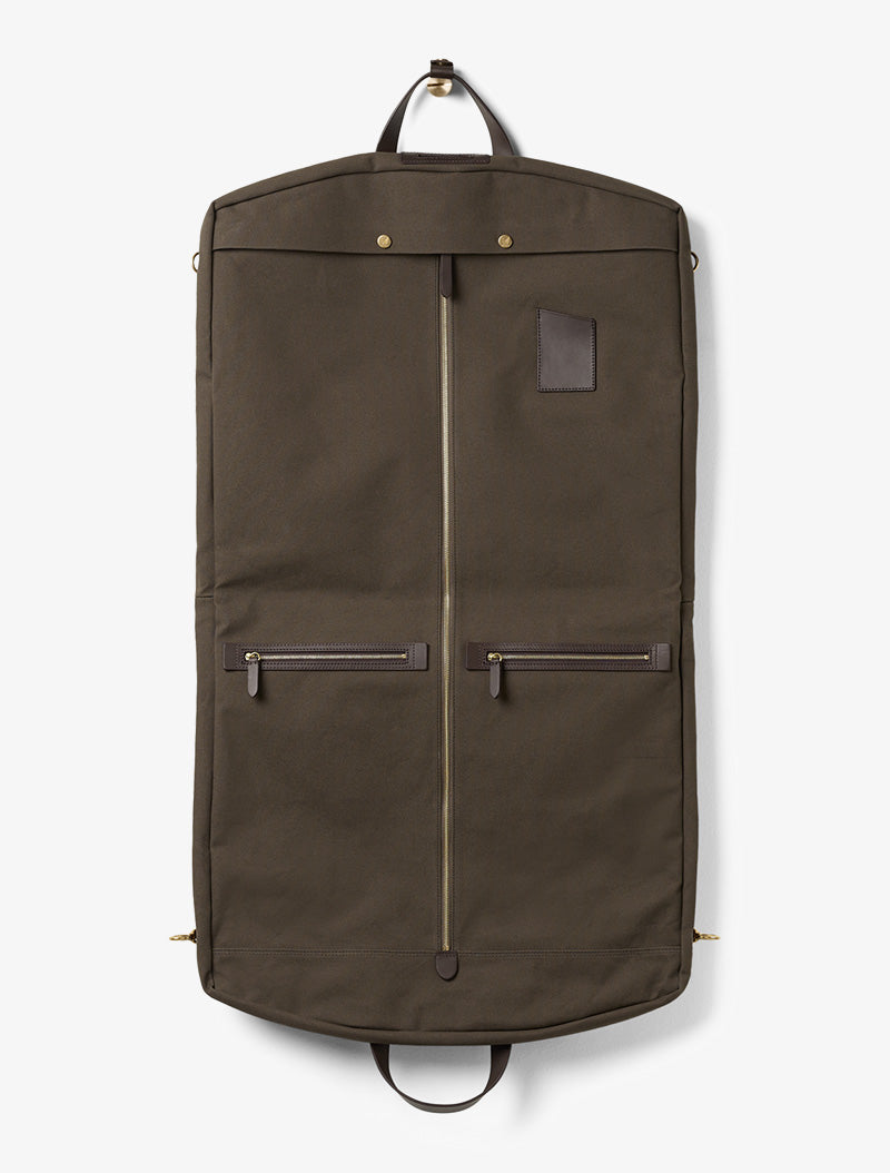 M/S Suit Carrier - Army/Dark Brown description image