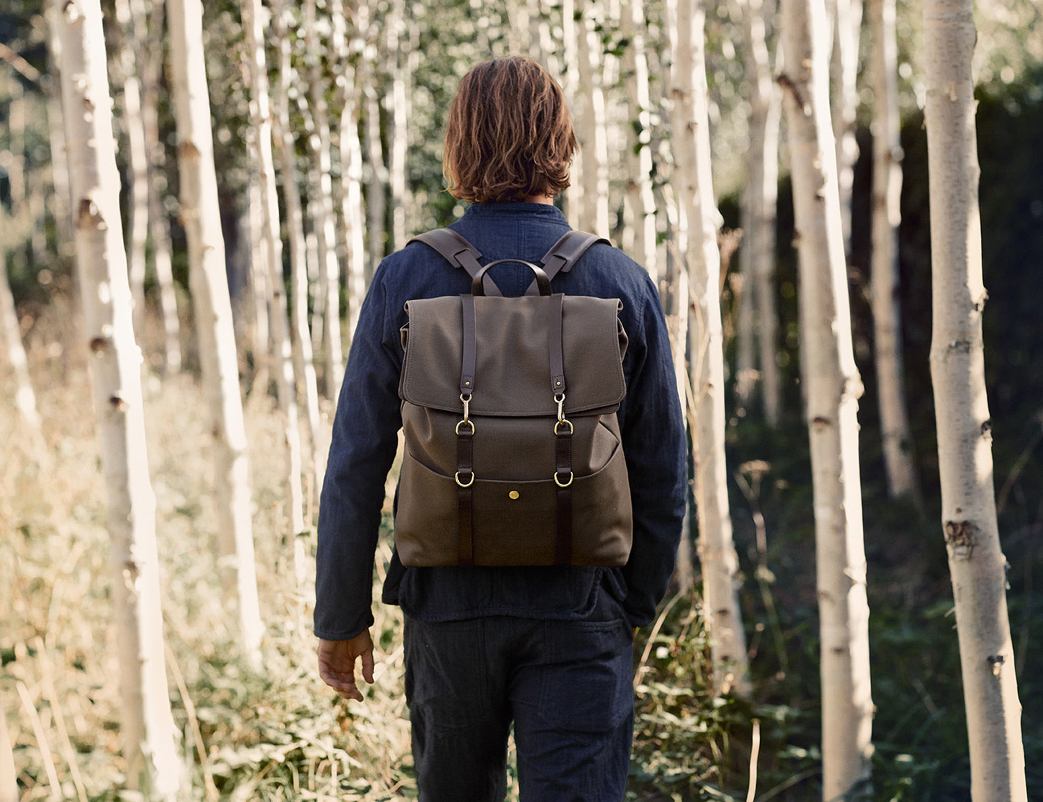 M/S Backpack - Army/Dark brown