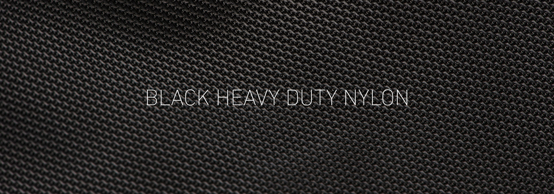Black heavy duty nylon