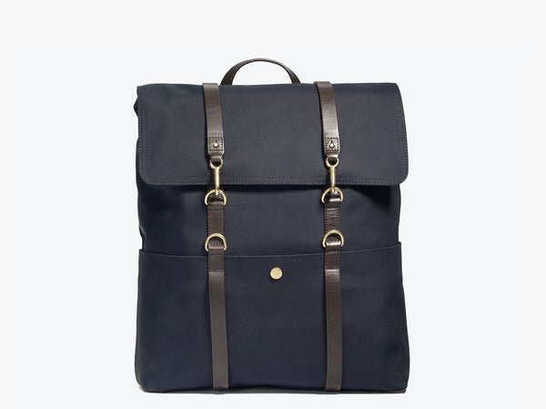 M/S Backpack – Navy/Dark brown