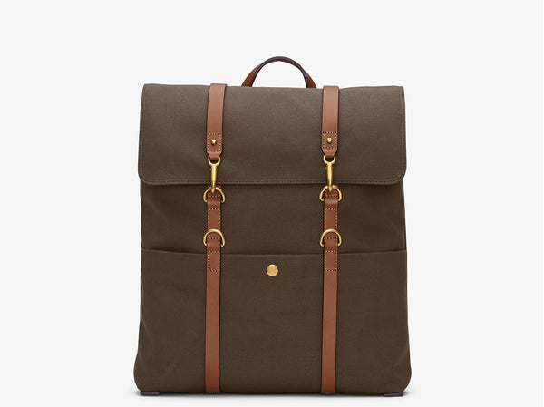 M/S Backpack – Army/Cuoio