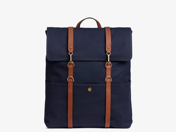 M/S Backpack - Midnight blue/Cuoio -  Backpack - Mismo