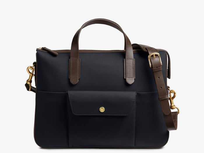 M/S Briefcase – Navy/Dark Brown -  Briefcase - Mismo