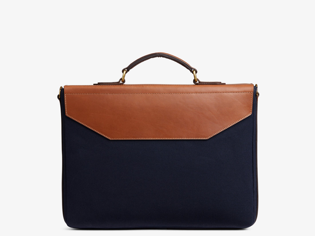 M/S Bureau - Midnight blue/Cuoio -  Briefcase - Mismo