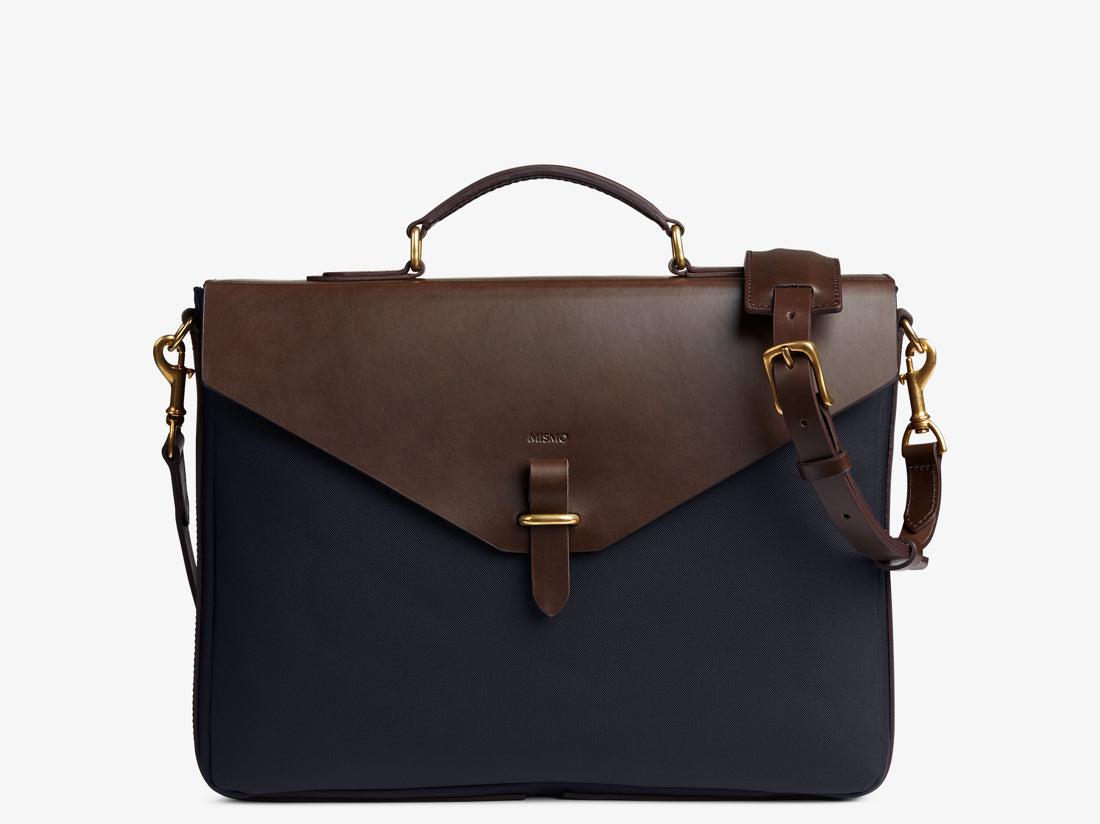 M/S Bureau - Navy/Dark brown -  Briefcase - Mismo