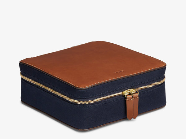 M/S Capsule - Midnight blue/Cuoio -  Washbag - Mismo