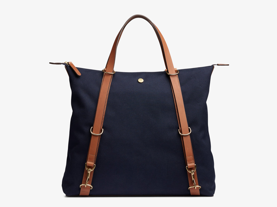 M/S Day Pack - Midnight blue/Cuoio -  Tote bag - Mismo