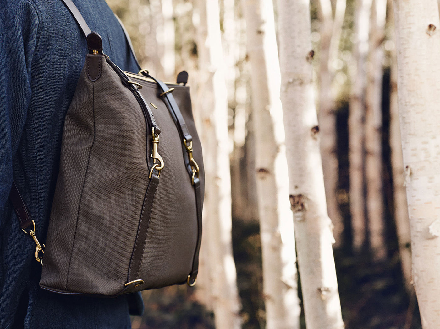 M/S Day Pack – Army/Dark Brown
