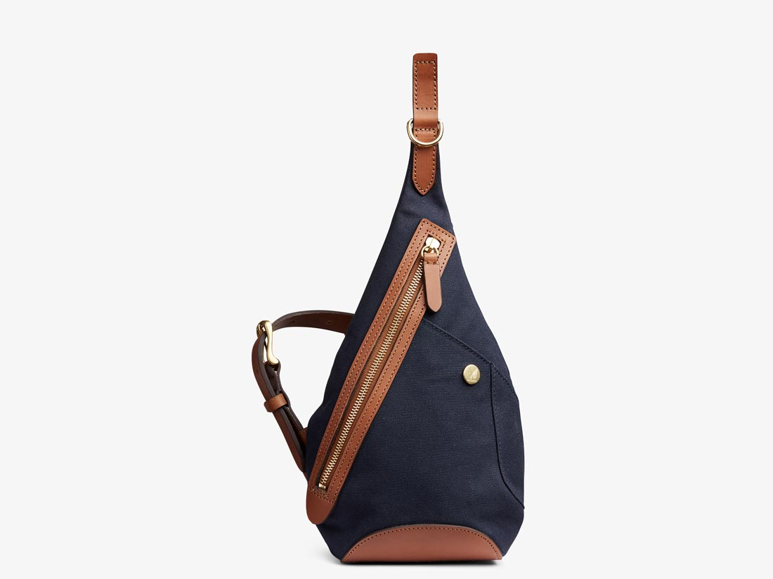 M/S Drop bag - Midnight blue/Cuoio -  Backpack - Mismo