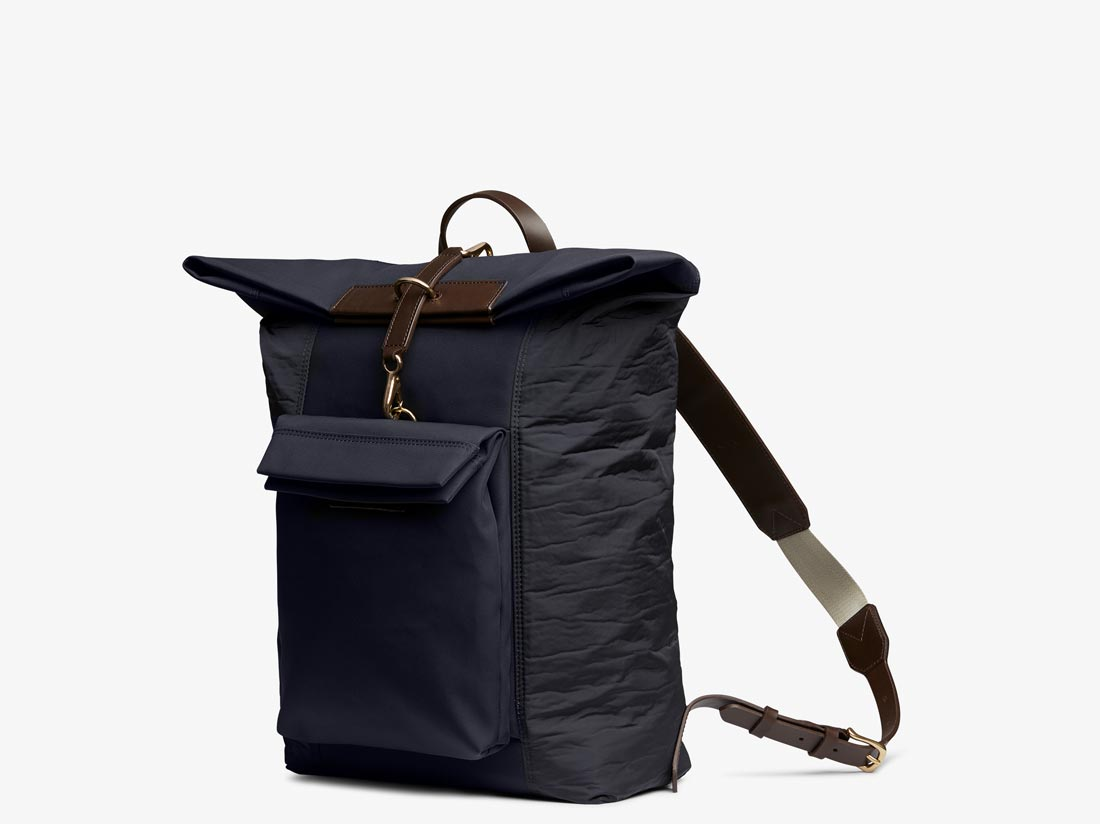 M/S Escape – Navy & Moonlight blue/Dark brown -  Backpack - Mismo