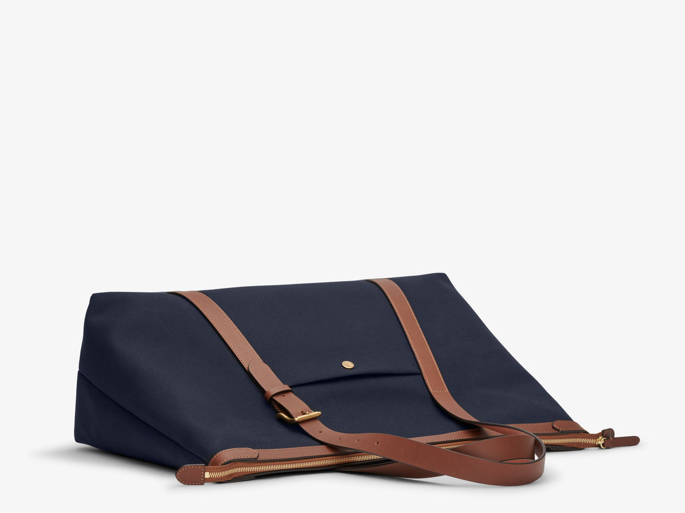 M/S Holdall - Midnight blue/Cuoio