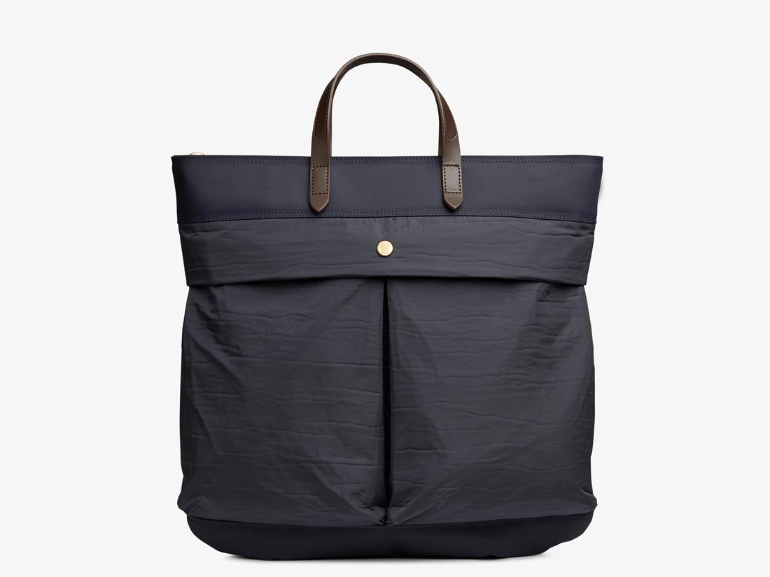 M/S Helmet Bag - Navy & Moonlight blue/Dark Brown -  Tote bag - Mismo