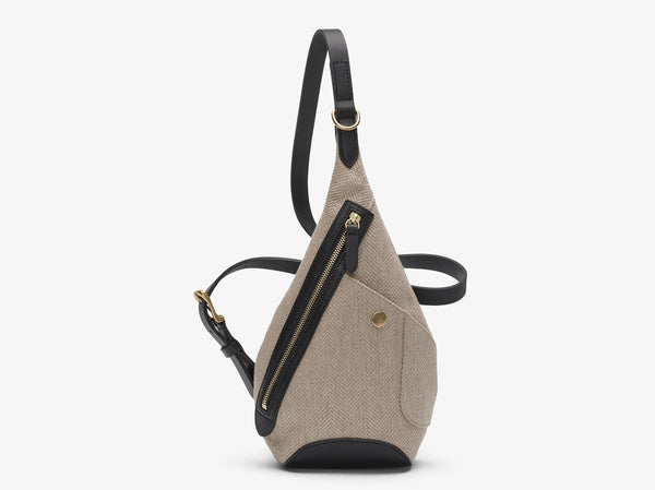 M/S Drop Bag – Grand Herringbone/Black