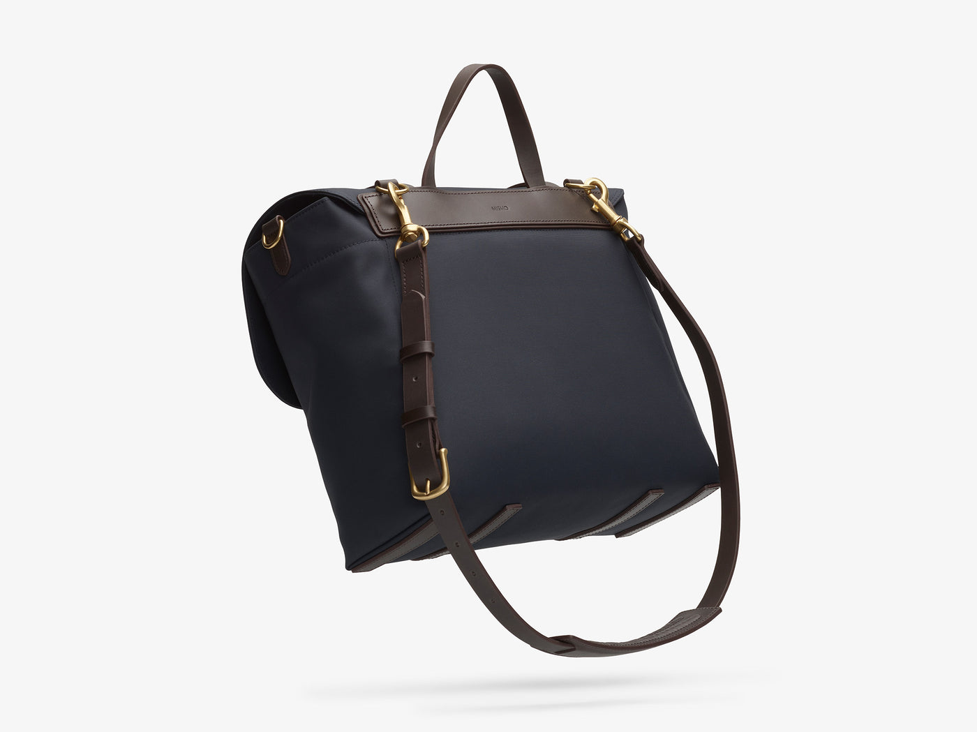 M/S Satchel – Navy/Dark Brown