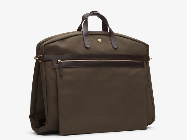 M/S Suit Carrier - Army/Dark Brown