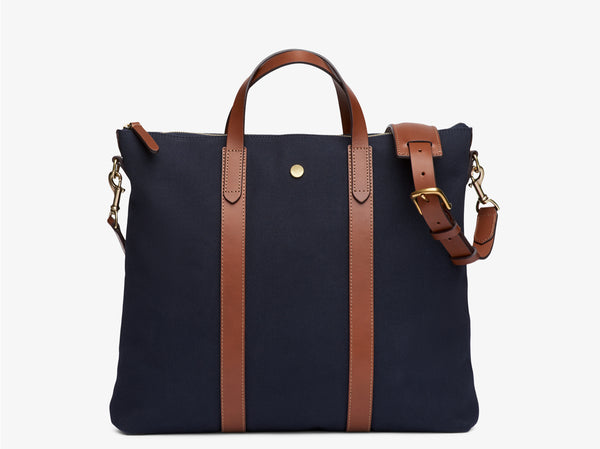 M/S Mate - Midnight Blue/Cuoio -  Totebags AW18 - Mismo