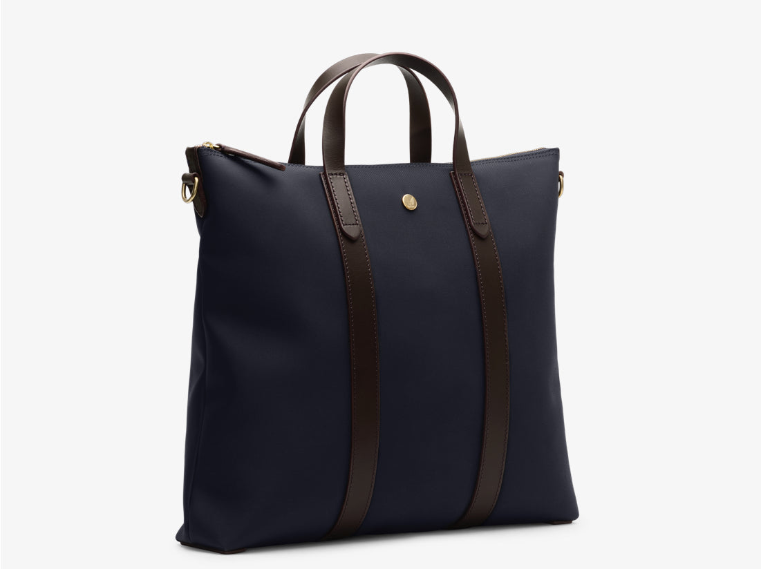 M/S Mate - Navy/Dark brown -  Totebags aw19 - Mismo