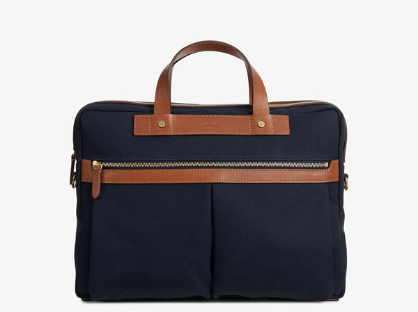 M/S Office - Midnight blue/Cuoio -  Briefcase - Mismo