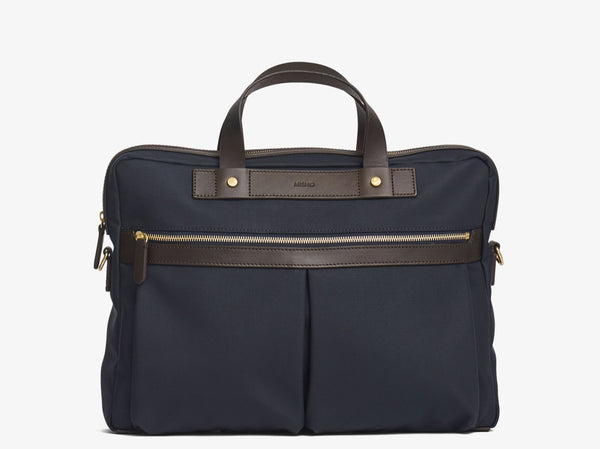 M/S Office - Navy/Dark Brown -  Briefcase - Mismo