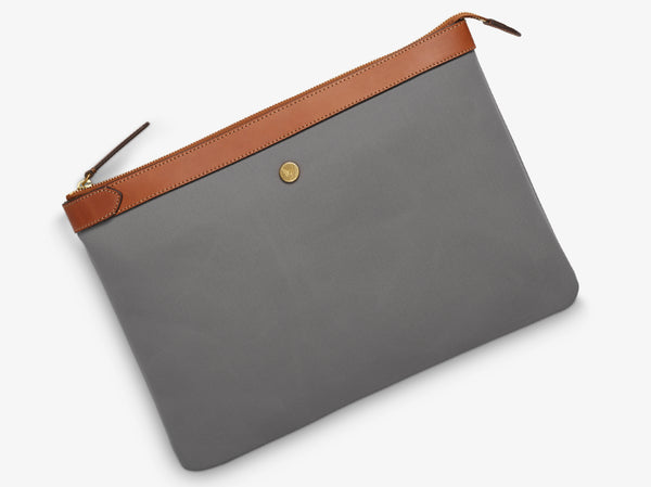 M/S Pouch Large - Concrete/Cuoio -  Laptop cover - Mismo
