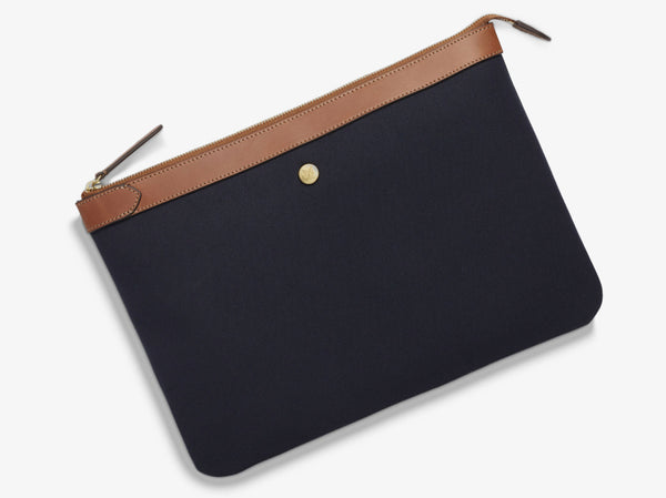 M/S Pouch Large - Midnight blue/Cuoio -  Laptop cover - Mismo