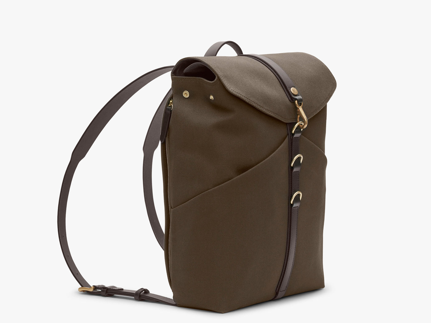 M/S Rucksack – Army/Dark Brown