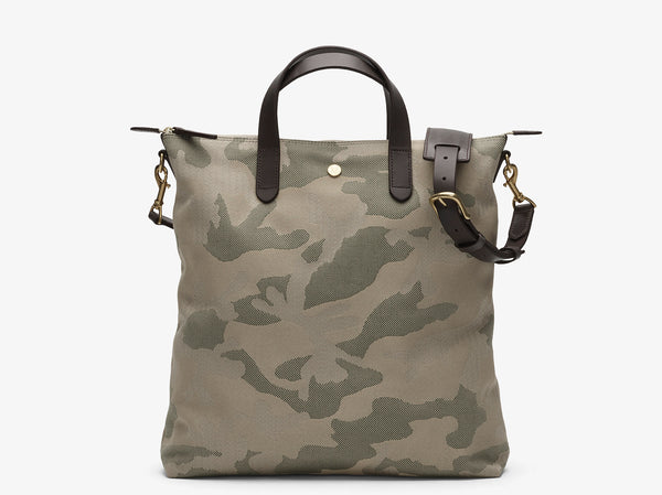 M/S Shopper – Sage Camo/Dark brown