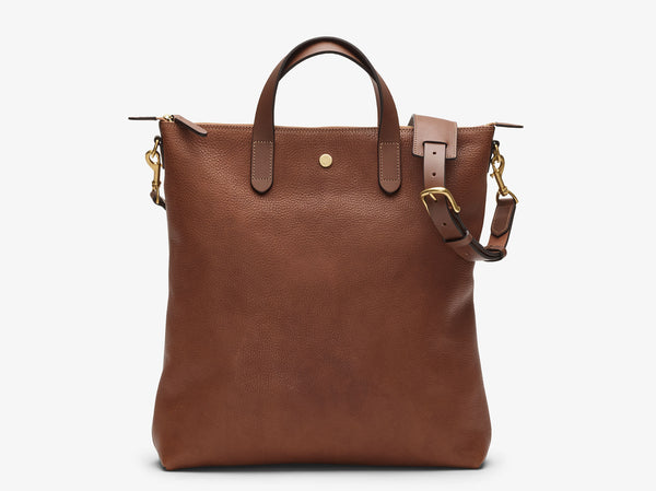 Shopper, Leather - Tabac/Cuoio