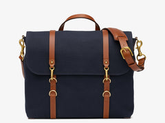 M/S Satchel - Midnight blue/Cuoio -  Briefcases aw19 - Mismo