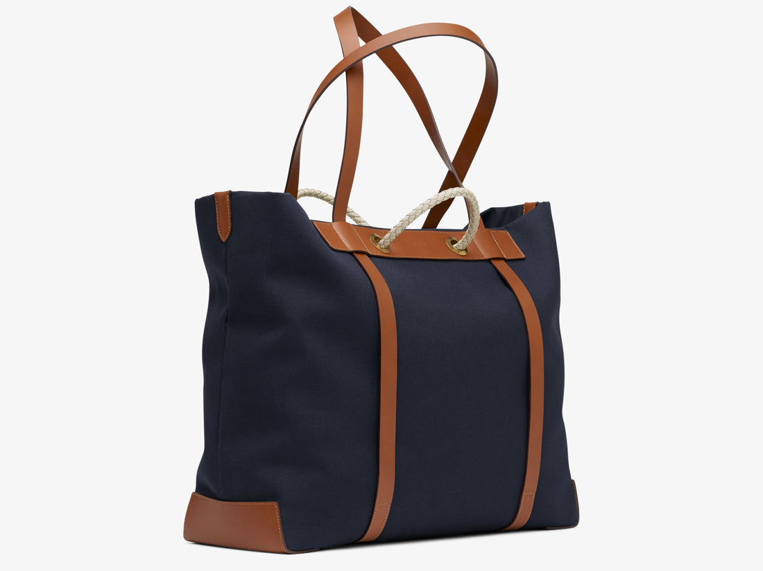 M/S Seaside - Midnight Blue/Cuoio -  Totebags SS19 - Mismo