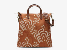 M/S Shopper - Palm Jacquard/Cuoio