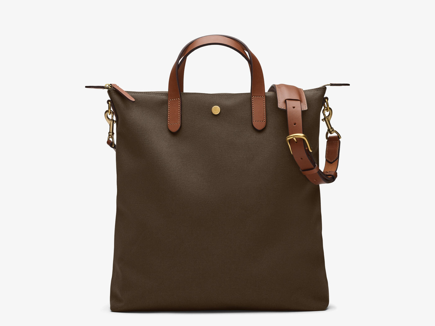 M/S Shopper - Army/Cuoio