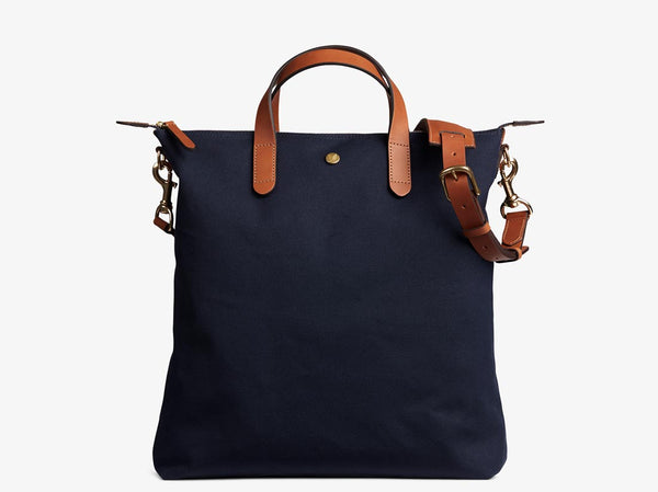 M/S Shopper - Midnight blue/Cuoio -  Tote bag - Mismo
