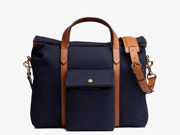 M/S Soft Work - Midnight blue/Cuoio -  Briefcase - Mismo