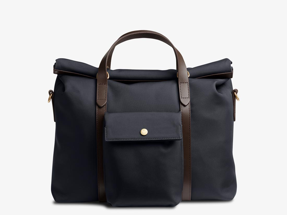 M/S Soft Work – Navy/Dark Brown -  Briefcase - Mismo