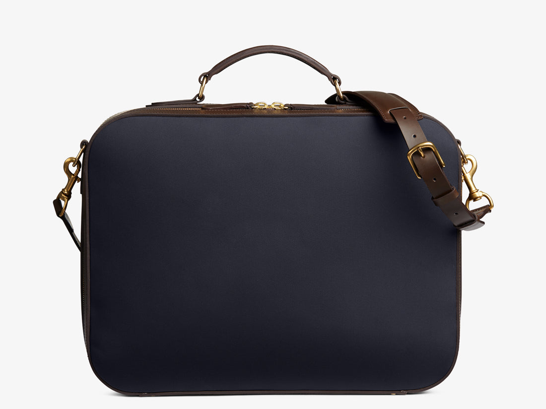 M/S Suitcase - Navy/Dark brown -  Travel bag - Mismo