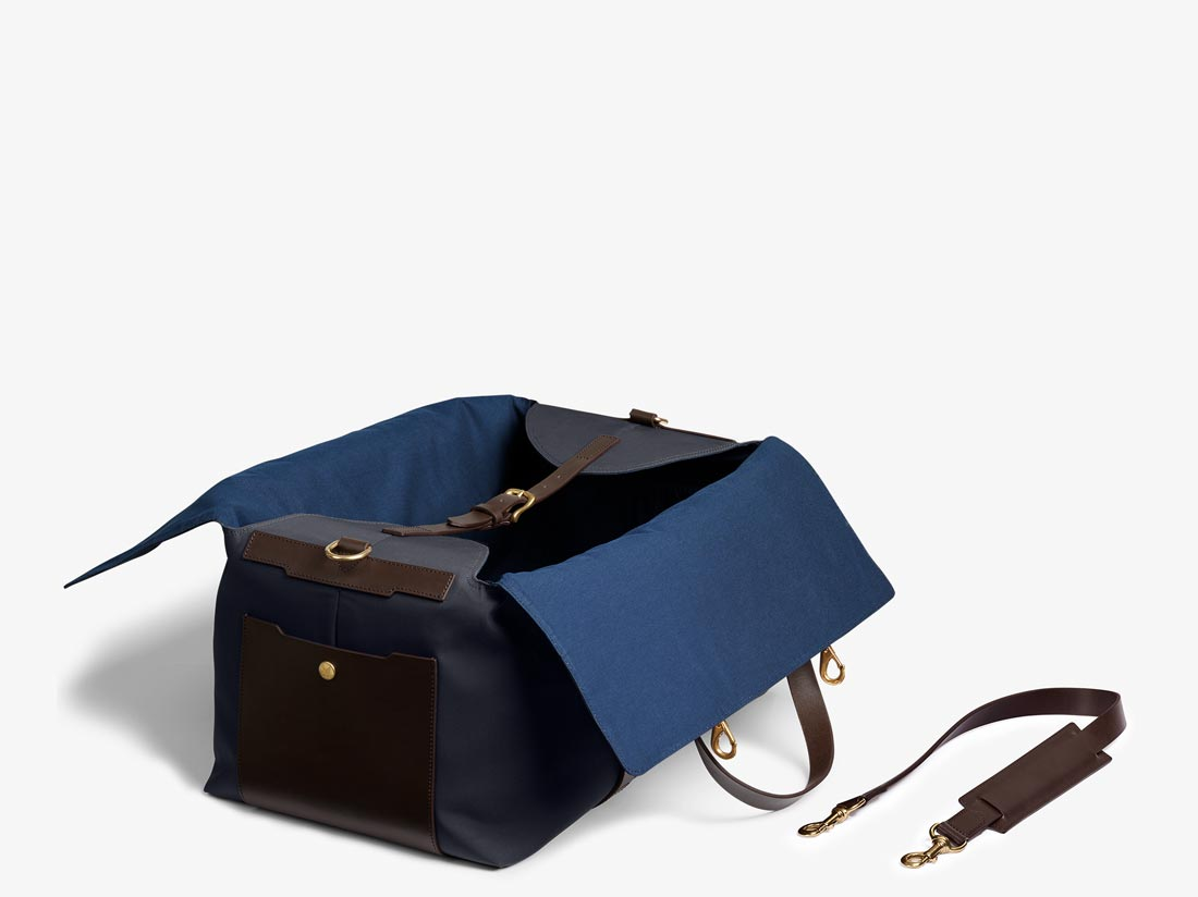M/S Supply – Navy/Dark brown -  Travel bag - Mismo