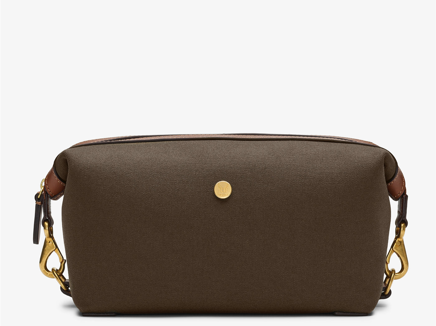M/S Washbag – Army/Cuoio
